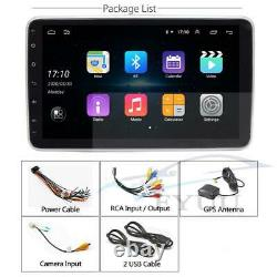 1 DIN Rotatable 9 Touch Screen Android 10.1 HD 32GB Car Stereo Radio GPS Wifi