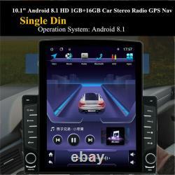 10.1In Android 8.1 1Din Car Stereo Radio Sat Nav GPS WIFI MP5 Player&Rear Camera