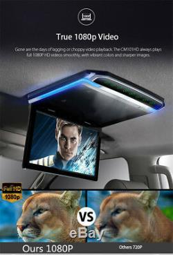 10.2 1080P Screen Flip Down Roof Mount Monitor Overhead TFT LCD Car Display