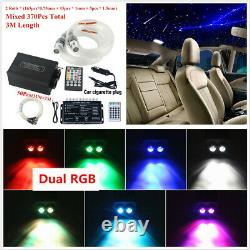 12V Twinkle Fiber Optic Light Car Headliner Starry Sky Lamp Bluetooth APP Remote