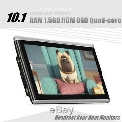 1PC 10.1 inch HD 1080P RAM 1.5GB ROM 8GB Quad-core Headrest Rear Seat Monitors