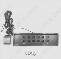 1x EU Remote Control Flip License Plate Frame Car Number Plate Turn Shift Blinds