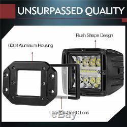 1x Flush Mount Work Light Pods 4.8 LED 120W 9600LM SUV UTE Bumper Reverse Lamps