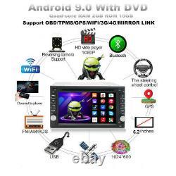 2DIN 6.2 Car Stereo Sat Nav GPS DVD Player Mirror Link USB Radio Wifi 4G/3G