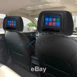 2X 12V 7 Touch Screen Universal Autos Headrest Monitors MP5 Player FM USB BT IR