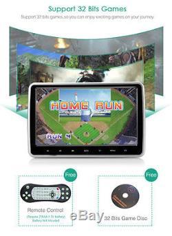 2pcs 10.1'' TFT LCD DVD Player Monitor Car Rear-Seat Headrest Cigar Lighter USB