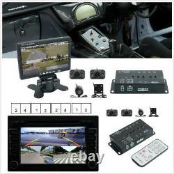 360° 4-CH Inputs Car Surround View System Dash Cam DVR Digital Camera 7 Monitor