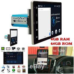 4+64GB 10.1in Single Din Android 9.0 Car Stereo Radio FM AM Sat Nav GPS Wifi BT
