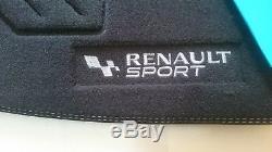 4 Alfombrillas Originales Renault Clio 3 (2005-2012) Sport RS GT Logo Blanco