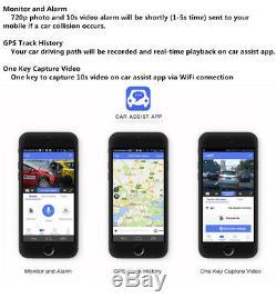 4CH Android 5.1 10 Car DVR Mirror Dash Cam Video Recorder BT WIFI GPS + 3Camera