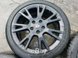 4x MK3 RENAULT CLIO SPORT RS 17 7.5J 5-STUD BLACK ALLOY WHEELS TYRES 215/45/17