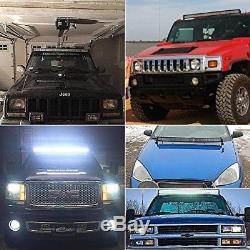 50Inch LED Light Bar Combo+Wiring+Remote Kit For Jeep