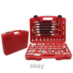 56 Pcs Universal Car Air Conditioning Leak Sealing Detector Repair Fitting Tools