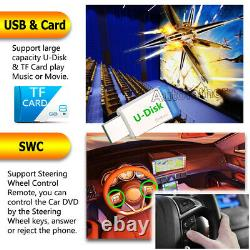 6.2 Inch Double DIN In dash Car Stereo Radio DVD CD LCD Player Bluetooth +Camera