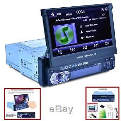 7 Touch Screen Single Din Car Mp5 Player Radio Stereo Gps Sat Nav 8g Map Card