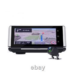 7 inch HD Android 5.1 Car Dash Cam 4G WiFi BT Dual Lens DVR Camera GPS Nav ADAS
