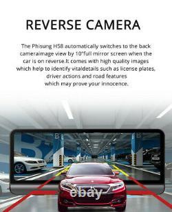 8In Android 8.1 FHD Dual Lens Car Centre Console DVR Dash Cam GPS Nav Wifi ADAS