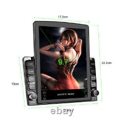 9.7 2 Din Android Car Stereo Radio Touch Screen Bluetooth GPS Sat Nav Player