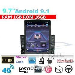 9.7INCH Android 9.1 Quad-core RAM Car Stereo Radio GPS WIFI 4G BT 1GB ROM 16GB