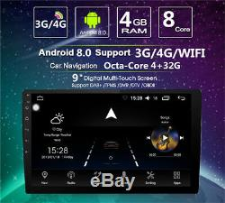 9 Ultra-thin Android 8.0 2 DIN Touch Screen Octa-Core 4G RAM +32G ROM GPS Wifi
