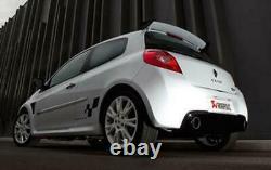 Akrapovic Edelstahl Duplex Sportauspuff Renault Clio 3 RS Endrohre aus Carbon
