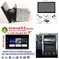 Android 8.0 Double 2Din 9 GPS Radio 1+16G 8-CORE TPMS WiFi Mirror Link OBD
