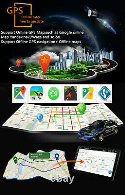Android 8.1 10.1In 1Din Touch Screen Car Stereo Radio GPS Wifi BT with4LED Camera