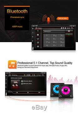 Android7.1 1080P Double 2Din Car Stereo Radio GPS WiFi 3G/4G OBD Mirror Link DVD