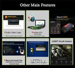 Android8.1 1DIN 10.1 HD Head Unit Car Stereo Radio MP5 Player GPS Sat Nav 2+32G