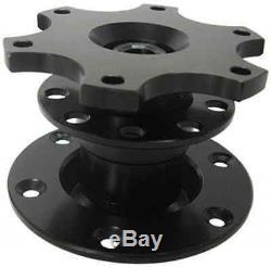 BLACK RACE SPORT QUICK RELEASE mechanism for aftermarket steering wheel boss kit