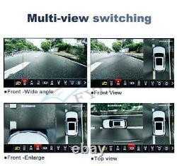 Car 4 Camera 3D Panoramic Bird Eye Surround View 1080P HD DVR Dash Cam Universal