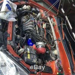 Car Electric Turbocharger Supercharger Kit Thrust Fuel Saver Air Filter Intake