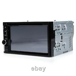 Car Stereo Double 2Din In-dash DVD CD LED Camera Player Radio Mirrorlink For GPS