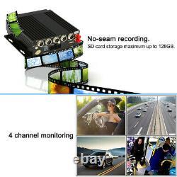 Car Truck Van Bus DVR Video Recorder AHD Wireless GPS Realtime&Monitor&4 Cameras