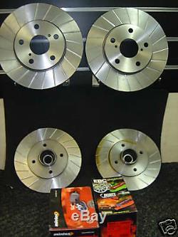 Clio Sport 172 Grooved Front Rear Brake Disc Abs