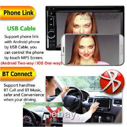 Double 2DIN HD 6.2in Touch Car DVD CD Player Stereo Radio Compatibility + Camera