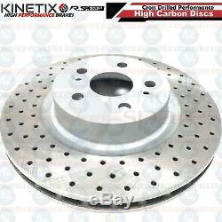 FOR CLIO SPORT 197 200 CUP TROPHY F1 FRONT DRILLED BRAKE DISCS BREMBO PADS 312mm