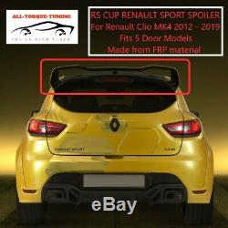 For RENAULT CLIO 2012+ MK4 RS CUP WRC SPORT STYLE REAR BOOT LID SPOILER LIP WING