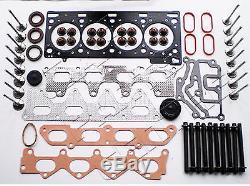 For Renault Clio 172 182 2.0 Sport F4r Cylinder Head Gasket Set 16 Valves Bolts