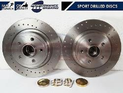 For Renault Clio 2.0 Sport 197 200 2.0 Rear Drilled Brake Discs Bearings Abs