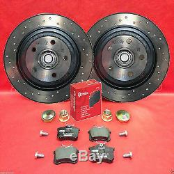 For Renault Clio Sport 2.0 RS 16v 197 200 front rear drilled brake discs pads
