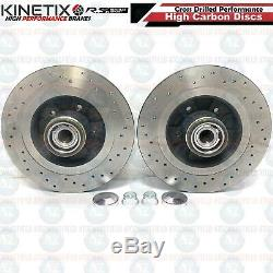For Renault Megane Sport R26 Clio 197 200 Rear Drilled Brake Discs Brembo Pads