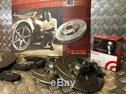 Front & Rear Brembo Drilled & Grooved Discs & Pads Renault Clio Sport 172 182