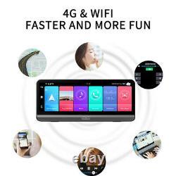 Full HD 8in Android 8.1 Car Dash Cam 4G WiFi ADAS Dual Lens DVR Camera GPS Navi