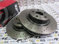 New GENUINE BREMBO Renault Sport Clio 3 III 197 200 RS front drilled brake discs