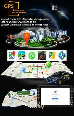 Quad-Core 9in 1Din Car Radio Stereo MP5 Player GPS SAT NAV Bluetooth+Rear Camera