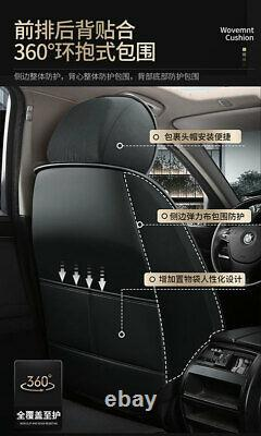 Red/Black PU Leather Car Seat Covers Cushion Protector Universal 5-Sits Full Set