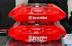 Red Brembo 4 Pot Front Calipers Renault Clio 197 200 Megane 225 Rs Sport