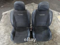 Renault Clio 172 / 182 2001-2006 Pair of front half leather sport seats 4/12