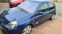 Renault Clio 172 Sport 2003 Monaco Blue, Lightly Modified Low Miles 84k MOT 4/22